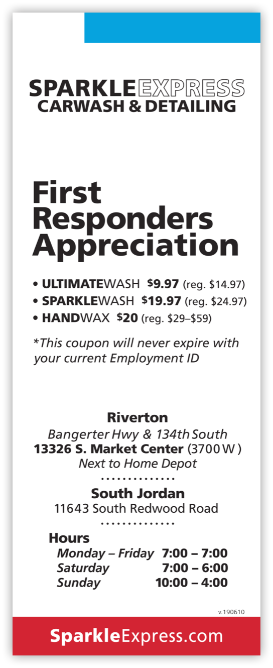 First Responders Appreciation Card