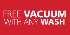 Free Vacuum With Any Wash
