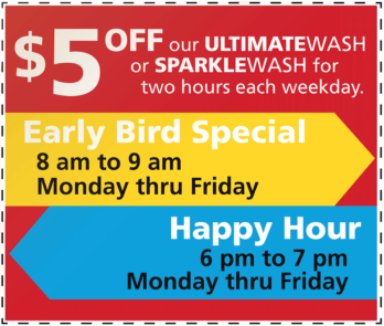 $5 Off Early Bird and Happy Hour